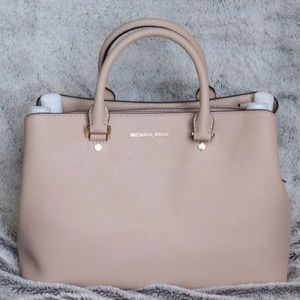 Michael Kors Oyster Leather Satchel